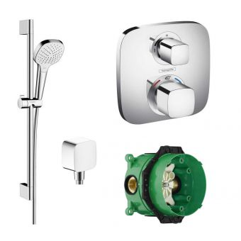 Hansgrohe Design Croma Select E with Ecostat 1 Head Pack