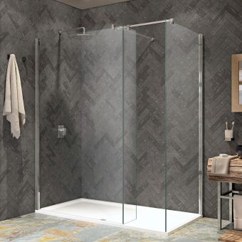 Kudos Ultimate 2 Straight Corner Walk-in Shower Pack
