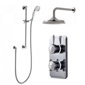 Bathroom Brands Classic 1910 Digital Shower, with Wall Mounted Head and Slide Rail Kit