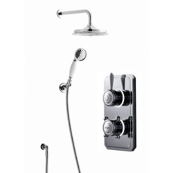 Bathroom Brands Classic 1910 Digital Shower with Wall Mounted Fixed Head and Handspray Kit
