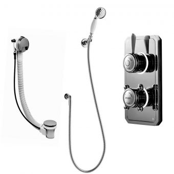Bathroom Brands Classic 1910 Digital Mixer with Hand-spray Kit and Overflow Bath Filler