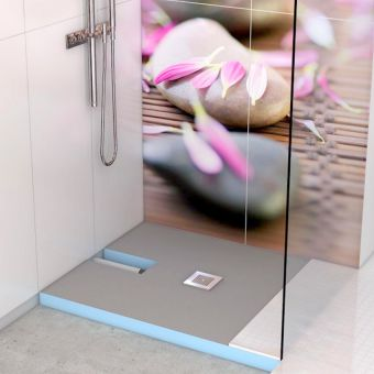 Wedi Fundo Plano Shower Base with Integrated Waste