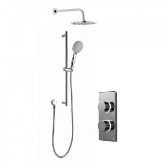 Bathroom Brands Contemporary 2025 Digital Shower Mixer with Wall Mounted Fixed Head and Slide Rail Kit