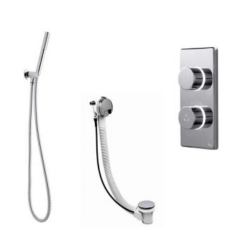 Bathroom Brands Contemporary 2025 Digital Shower Mixer with Hand spray Kit and Overflow Bath Filler