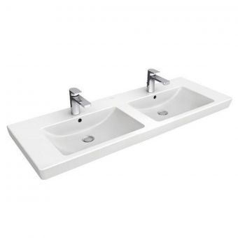 V & B Subway 2.0 Twin Bowl Double Vanity Basin