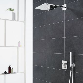 Grohe Grohtherm SmartControl Perfect Shower System with Rainshower 310 SmartActive Cube Shower Head - 34706000
