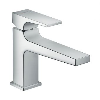 Hansgrohe Metropol Basin Mixer Tap 100 with Lever Handle and Push Waste