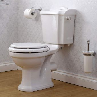 Perrin and Rowe Edwardian Close Coupled Toilet - 2905