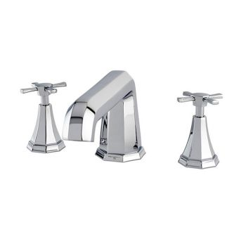 Perrin and Rowe Deco 3 Hole Deck Mounted Bath Filler