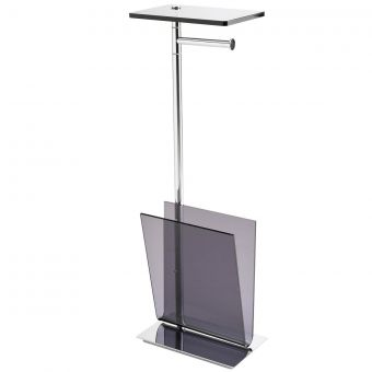 Inda Avenue Stand with Paper & Magazine Holder