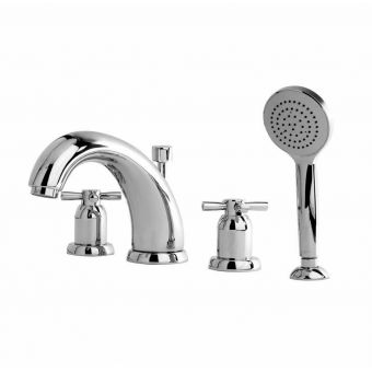 Perrin and Rowe Contemporary 180mm Four Hole Bath Set with Handshower