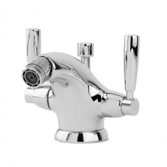 Perrin & Rowe Contemporary Monobloc Bidet Mixer Tap with Pop-up Waste