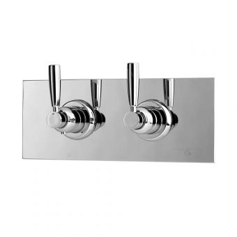 Perrin & Rowe Contemporary Thermostatic Shower Mixer with One Shut-off Valve - 5368CP