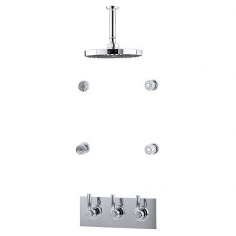 Perrin & Rowe Contemporary Shower Set Eleven, with Body Jets