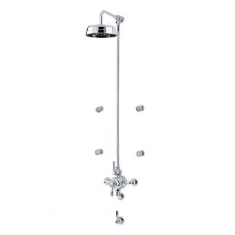 Perrin and Rowe Contemporary Shower Set Seven, with Body Jets