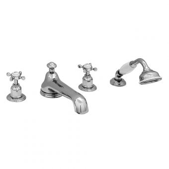 Perrin & Rowe Traditional Four Hole Bath Set with Low Profile Spout
