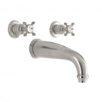 Perrin & Rowe Traditional Three Hole Wall Mounted Bath Filler