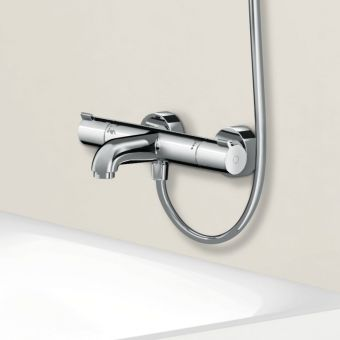 hansgrohe Ecostat Comfort Exposed Bath Shower Mixer