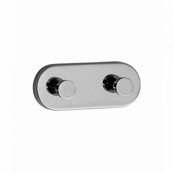 Smedbo Loft Double Towel Hook (Diameter: 120mm)
