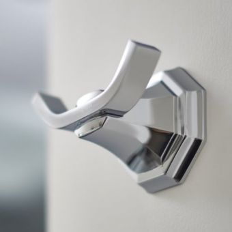 Perrin and Rowe Deco Twin Robe Hook