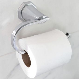 Perrin and Rowe Deco Toilet Roll Holder - 6148CP