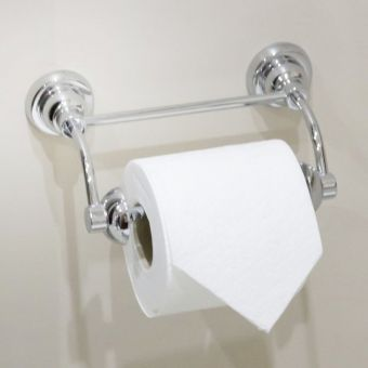 Perrin & Rowe Contemporary Toilet Roll Holder with Pivot Bar - 6448CP