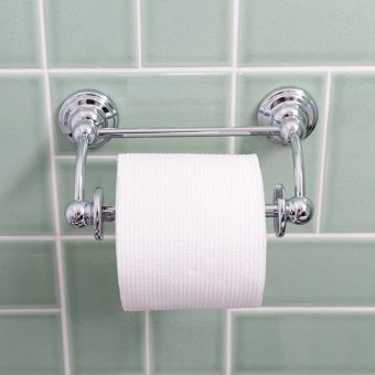 Perrin & Rowe Traditional Pivot Bar Toilet Roll Holder - 6960CP