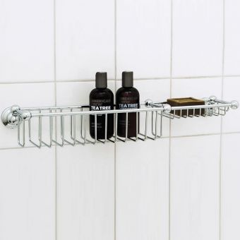 Perrin & Rowe Traditional Bottle Basket & Soap Tray - 6962CP
