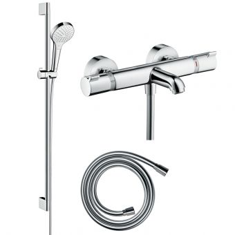 Hansgrohe Round Croma Select Kit with Shower & Bath Filler Valve