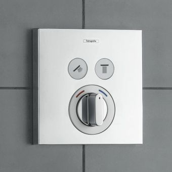 Hansgrohe ShowerSelect Manual Mixer, with 2 Outlets