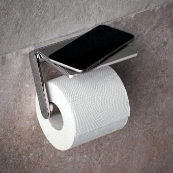 Keuco Plan Toilet Paper Holder With Shelf - 14973010000