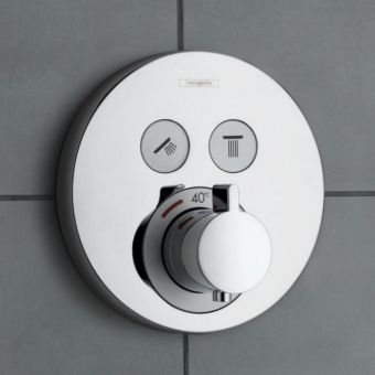 Hansgrohe ShowerSelect S Thermostatic Mixer, with 2 Outlets