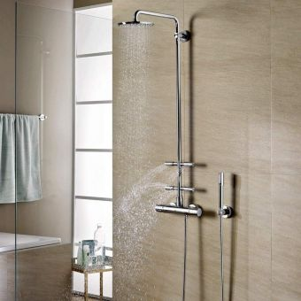 Grohe Rainshower System 210 with Thermostatic Valve and Side Showers - 27374000