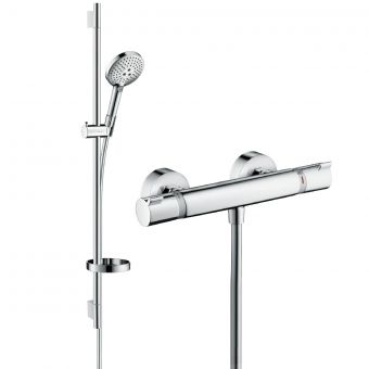 Hansgrohe Round Raindance Select Shower Kit with Exposed Valve