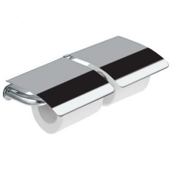 Inda Hotellerie Chrome Double Toilet roll holder with Cover