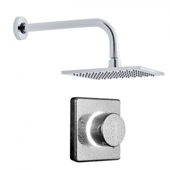 Bathroom Brands Contemporary Digital Shower with Square Head