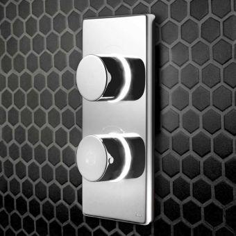 Bathroom Brands Contemporary Dual Outlet Digital Shower Valve