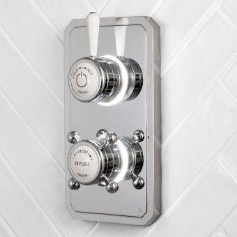Bathroom Brands Classic 1910 Dual Outlet Digital Shower Valve