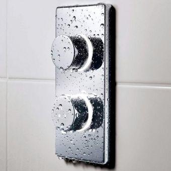 Bathroom Brands Contemporary Dual Outlet Digital Bath & Shower Valve