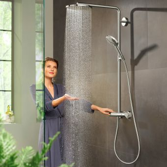 hansgrohe Raindance Select S Showerpipe 240 1Jet with PowderRain Chrome