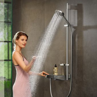 Hansgrohe ShowerTablet Select 300 Shower kit with Raindance Select S PowderRain