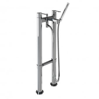 Britton Crystal Floorstanding Bath Shower Mixer