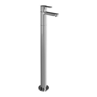 Britton Crystal Floorstanding Single Lever Bath Filler