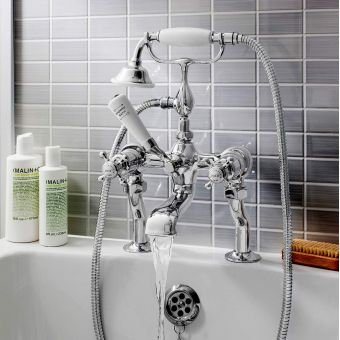 Crosswater Belgravia Crosshead Bath Filler with Shower Handset