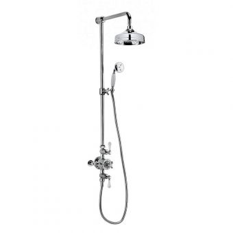 Crosswater Belgravia Exposed Shower with Rail Mounted Hand Shower and Drench Head