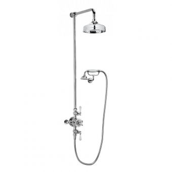Crosswater Belgravia Exposed Shower Kit with Fixed Head and Cradle Handset