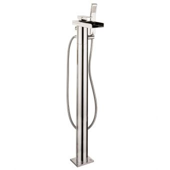 Crosswater Water Square Floor Standing Bath Mixer with Shower Set