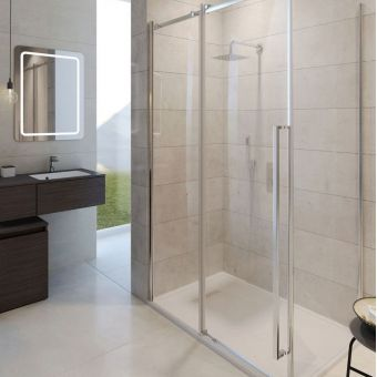 Crosswater Pier Single Slider Shower Door
