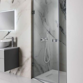 Kudos Pinnacle 8 Hinged Shower Door For Corner Uk Bathrooms