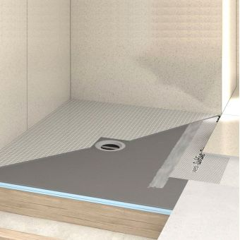 Wet room flooring including shower drains wall panels - Wedi fundo shower pan ...